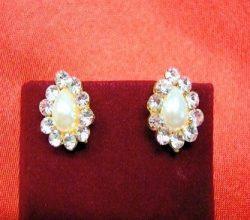 Earrings - Teardrop Diamonte