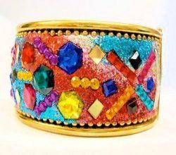 Multicoloured Gem Cuff
