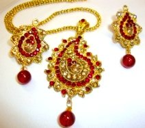 Necklace Red Beads