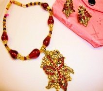 Necklace Red Butterfly