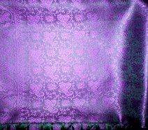 Purple Green Art Silk Shawl