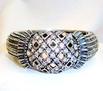 Silver Diamante Bangle