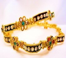 Twin Flower Bangles