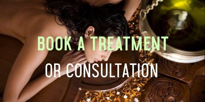 book an ayurvedic treatment or consultation