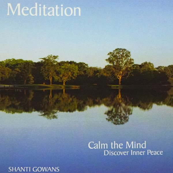 meditation cd cover. calm the mind, discover inner peace