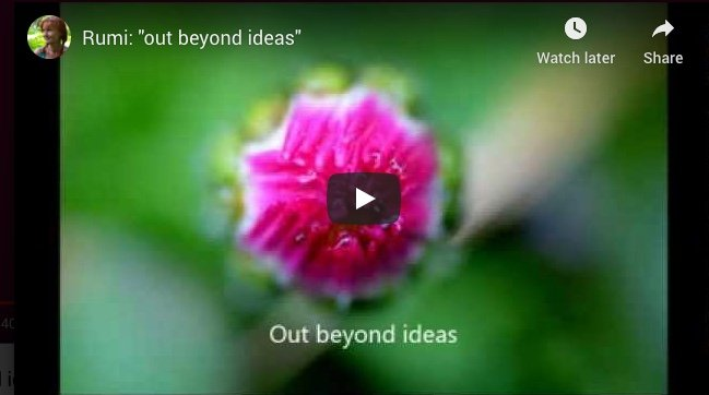 Rumi Out beyond ideas