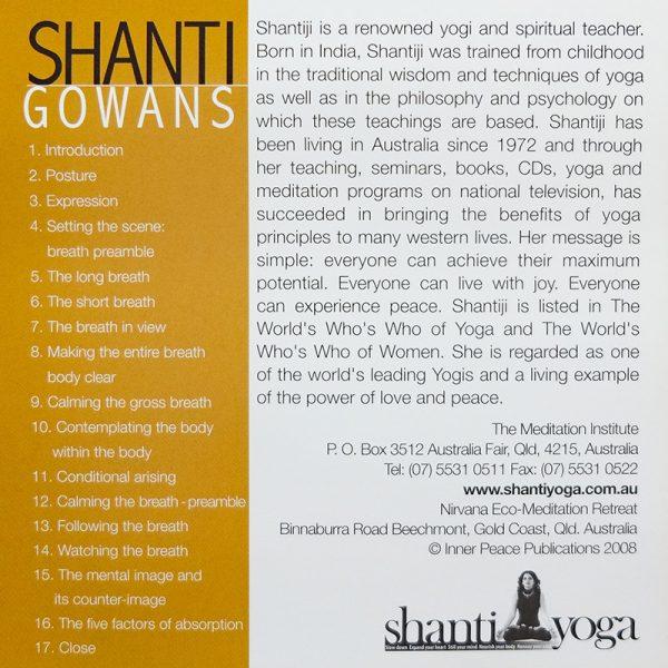 vipassana meditation cd inner cover